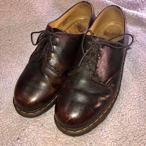 Dr. Martens 11 men's dark brown black shoes
